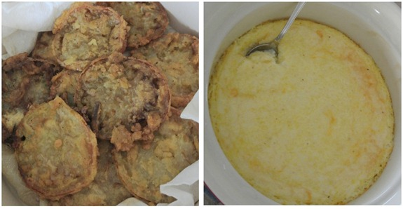 fried green tomatoes and grits