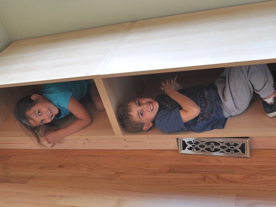 kids in boxes