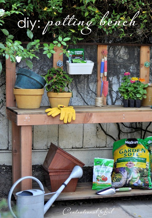 diy potting bench centsational girl