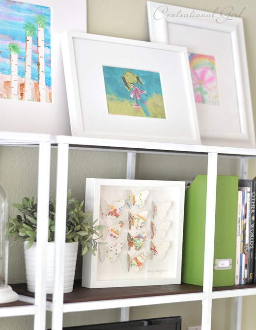 kids art on shelf cg
