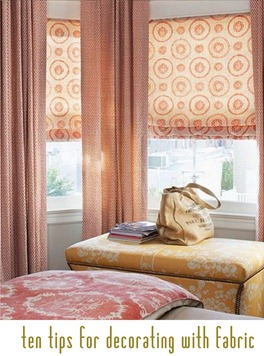 ten tips for decorating with fabric
