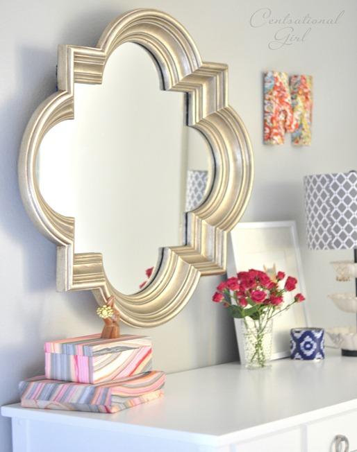 silver quatrefoil mirror cg