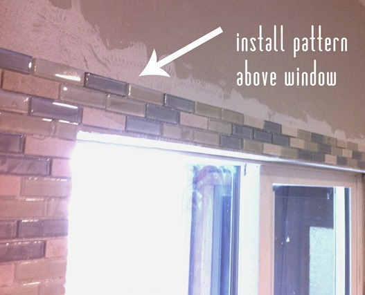 establish pattern above window