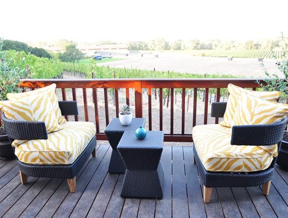 outdoor balcony off guest room