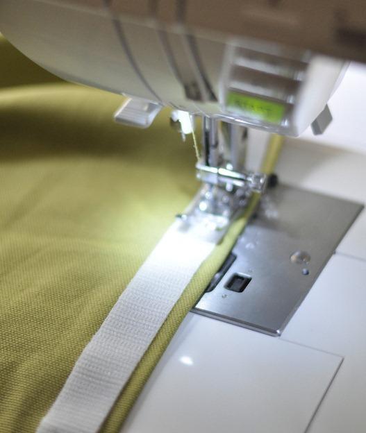 sew velcro to back closure