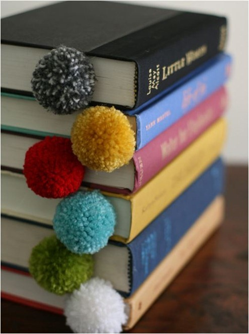 yarn pom poms design mom