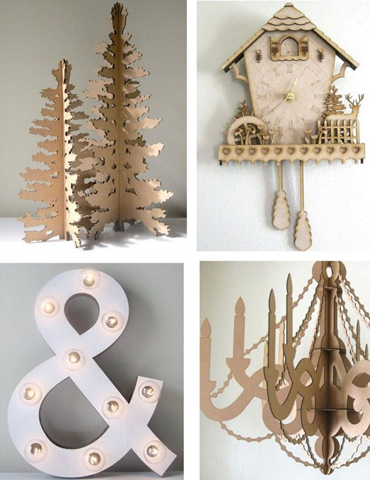 cardboard decor by seequin