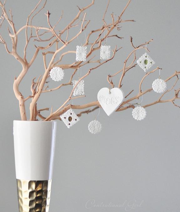 mini clay filigree ornaments
