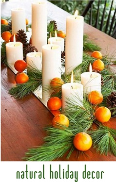 natural holiday decor