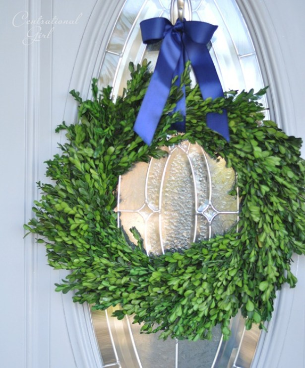 preserved boxwood front door wreath