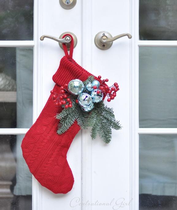 red sweater stocking