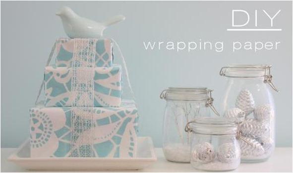 stenciled gift wrap yummy mummy club