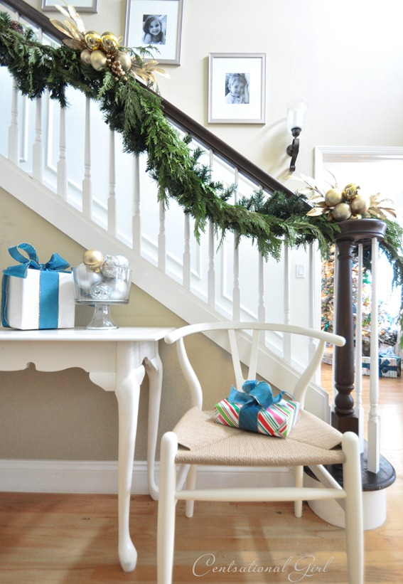 wishbone chair and garland