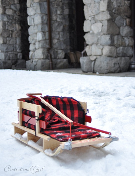 red check sled