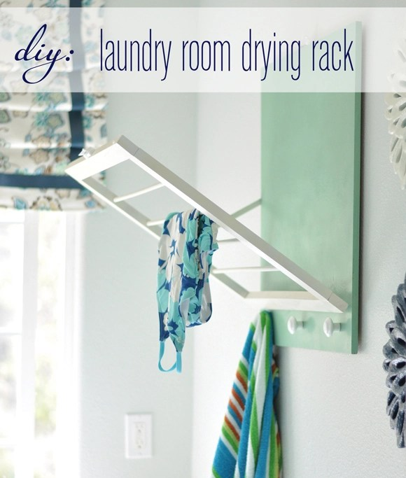 Diy Laundry Room Drying Rack This Is The Perfect Solution For Drying All Of My Delicates I Am So Happy With The Way It Turned Out It Is Both Pretty And