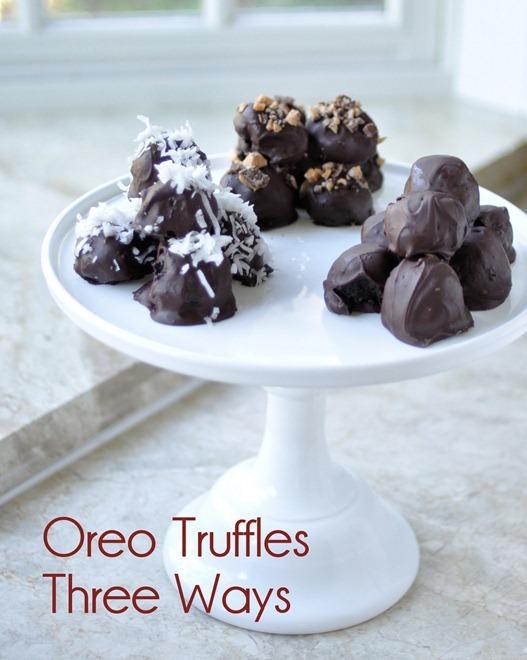oreo truffles three ways