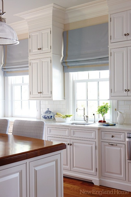 Genial Roman Shades In Kitchen New England Home Mag