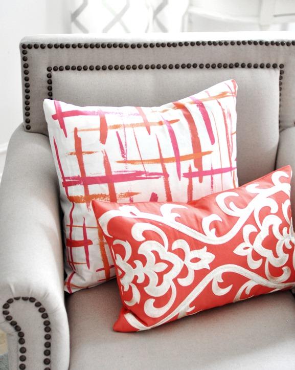 brushstrokes pillow