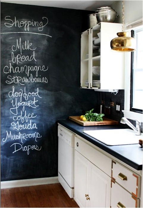 chalkboard wall hunted interior