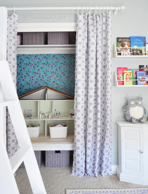 curtains on closet