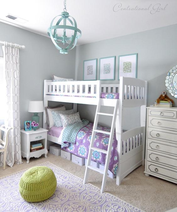 lavender and blue girls room