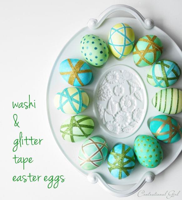 Washi Tape Easter Eggs | Centsational Girl