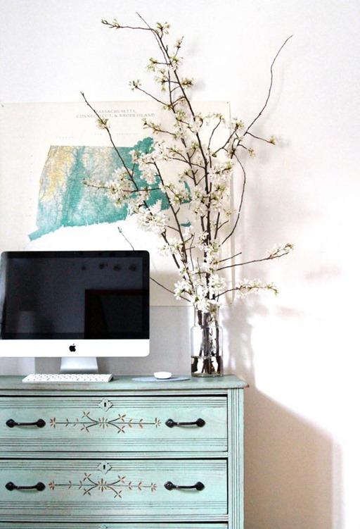 white cherry blossoms gardenista