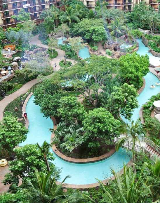 aulani lazy river from above
