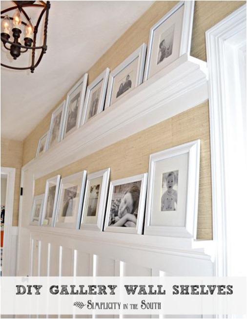 diy gallery wall shelves