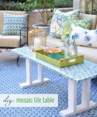DIY Tile Outdoor Table | Centsational Girl