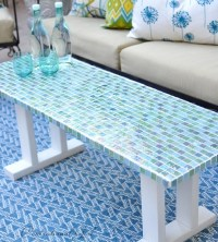 DIY Tile Outdoor Table | Centsational Girl