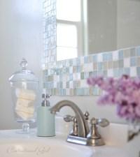 DIY: Mosaic Tile Bathroom Mirror | Centsational Girl