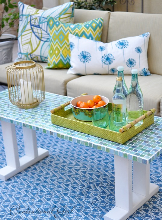 mosaic tile outdoor table