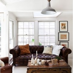 Modern Retro Sofa And Loveseat Oval Decorating Around A Leather | Centsational Girl