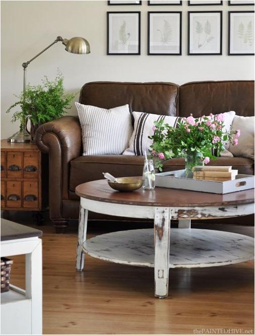 decorating around a leather sofa centsational style rh centsationalstyle com