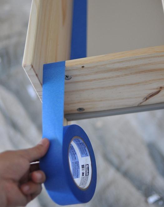 scotchblue tape to line drawers