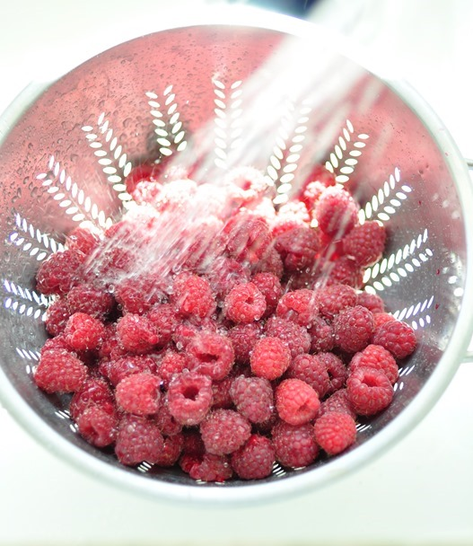 rinsed raspberries