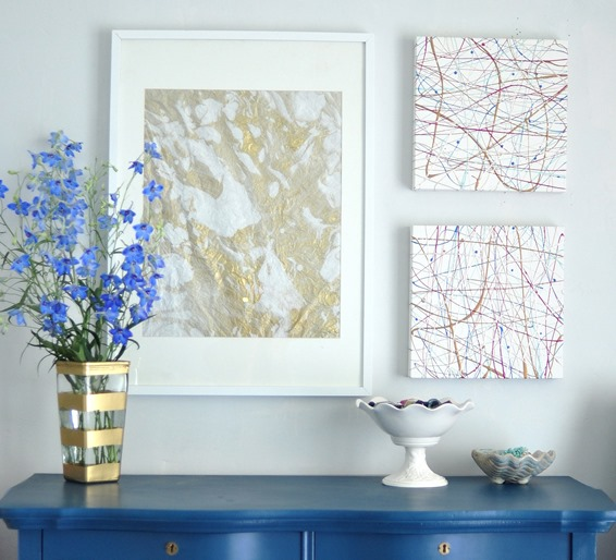 diy art projects above dresser