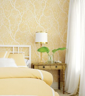 yellow bedroom decorating wallpapers centsational interiors walls wall bedrooms paint decor colors decorate soft paper better homes interior simple accent