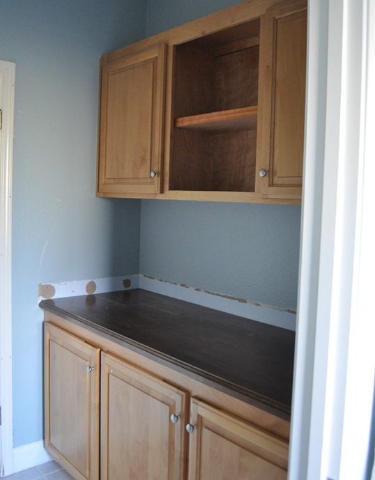 cabinets before