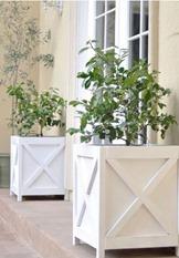 diy criss cross planters