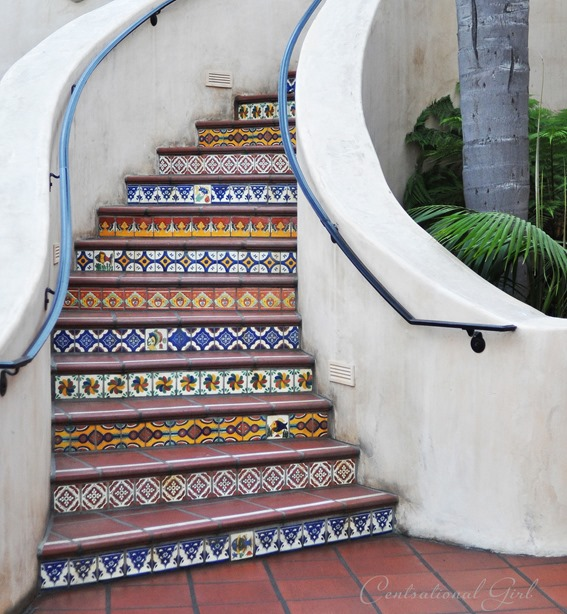 curved tiled staircase