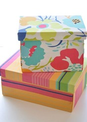fabric covered boxes diy