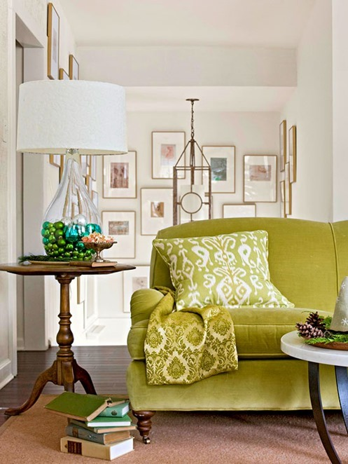 green velvet sofa bhg