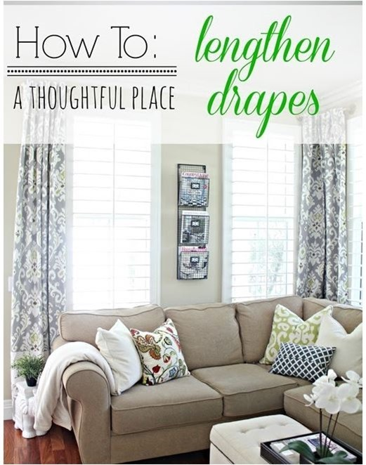 how to lengthen drapes athoughtfulplace