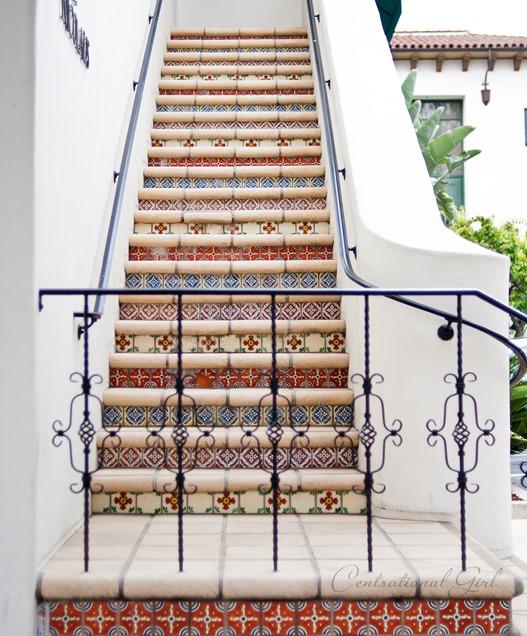 multi tiled staircase santa barbara cg