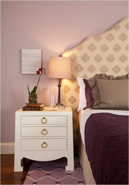 plum and white bedroom lisa gutow