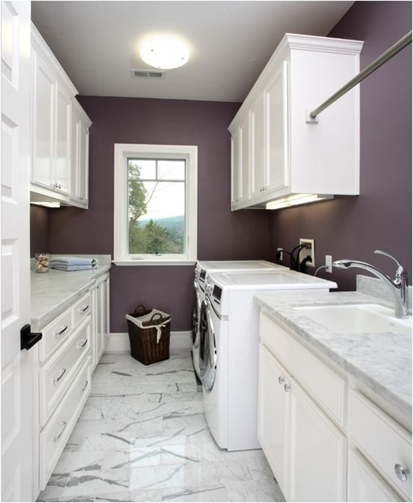 plum paint laundry room