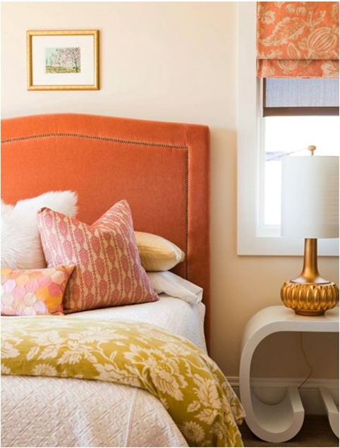 alice lane orange velvet headboard