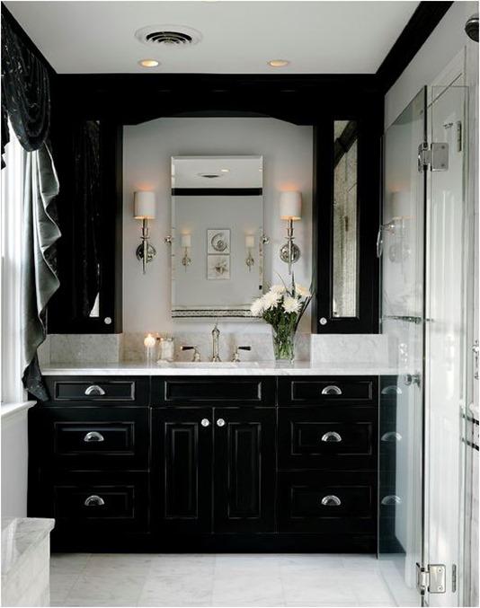 Inspirational black bathroom cabinets